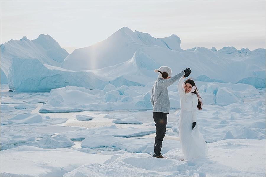 Greenland winter wedding