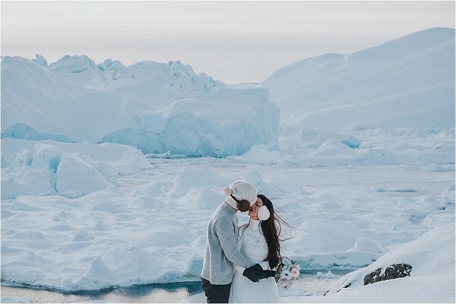 Alaska winter wedding