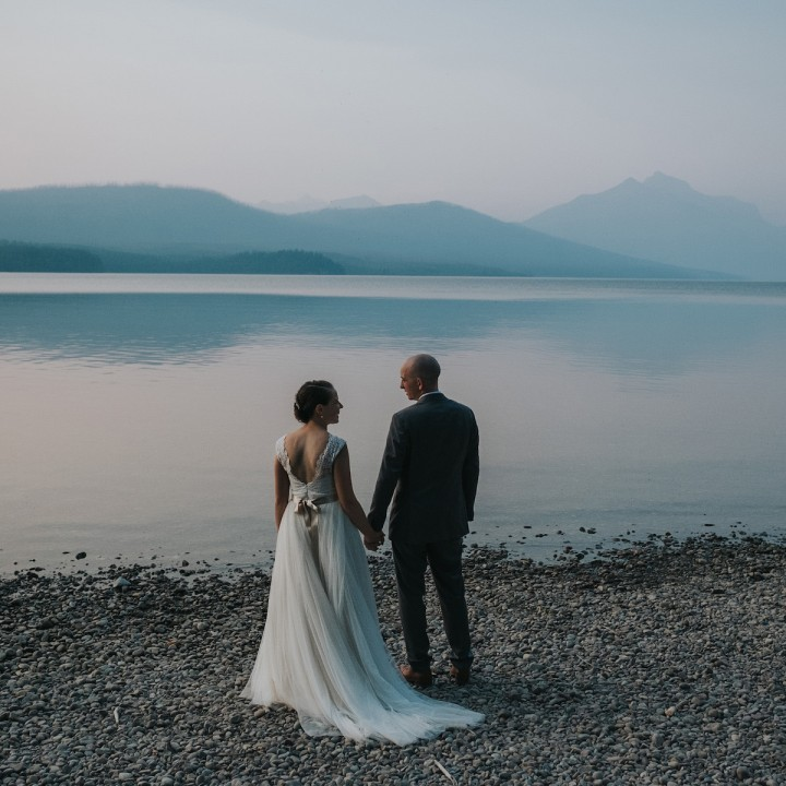 Katy + Nick | Glacier National Park, Montana Wedding