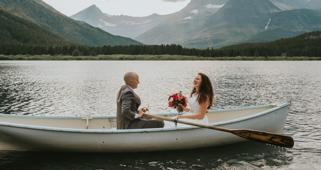 Katy + Nick | Glacier National Park, Montana Epic Day-After Session