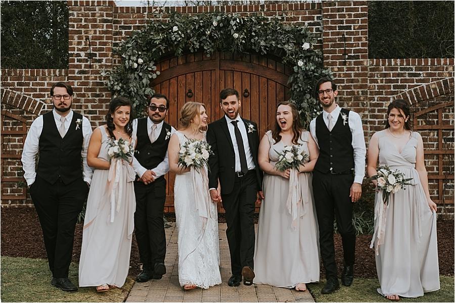 Wedding ceremony Oaks at Salem