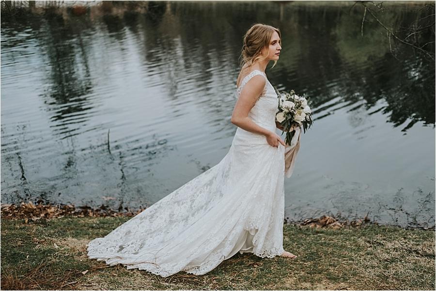 bridal portraits Oaks at Salem