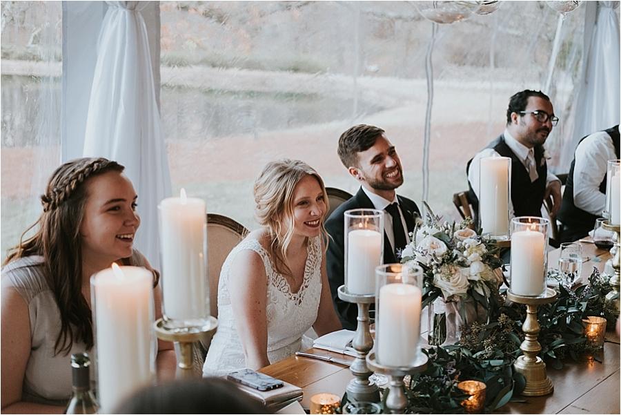 Raleigh North Carolina outdoor wedding reception