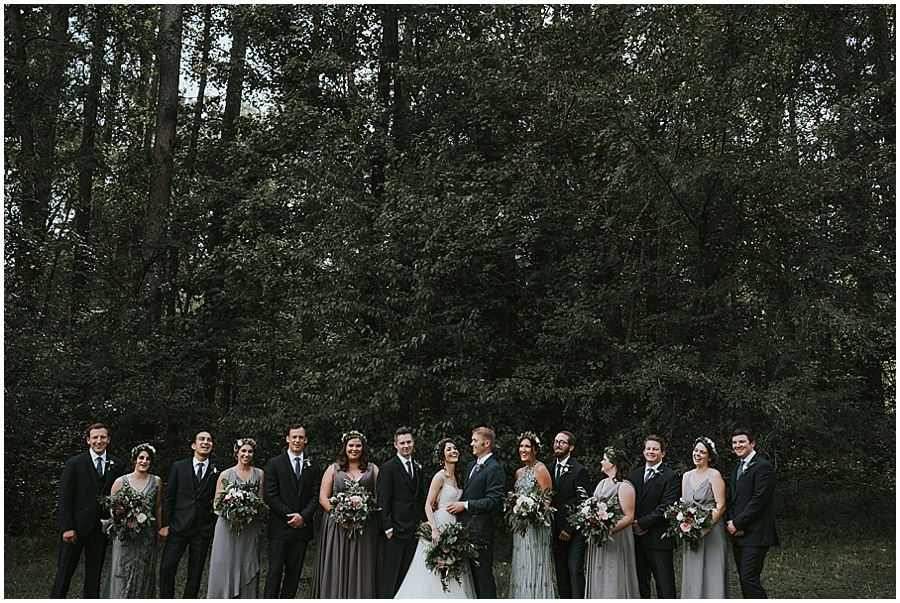 Durham NC wooded outdoor wedding venue