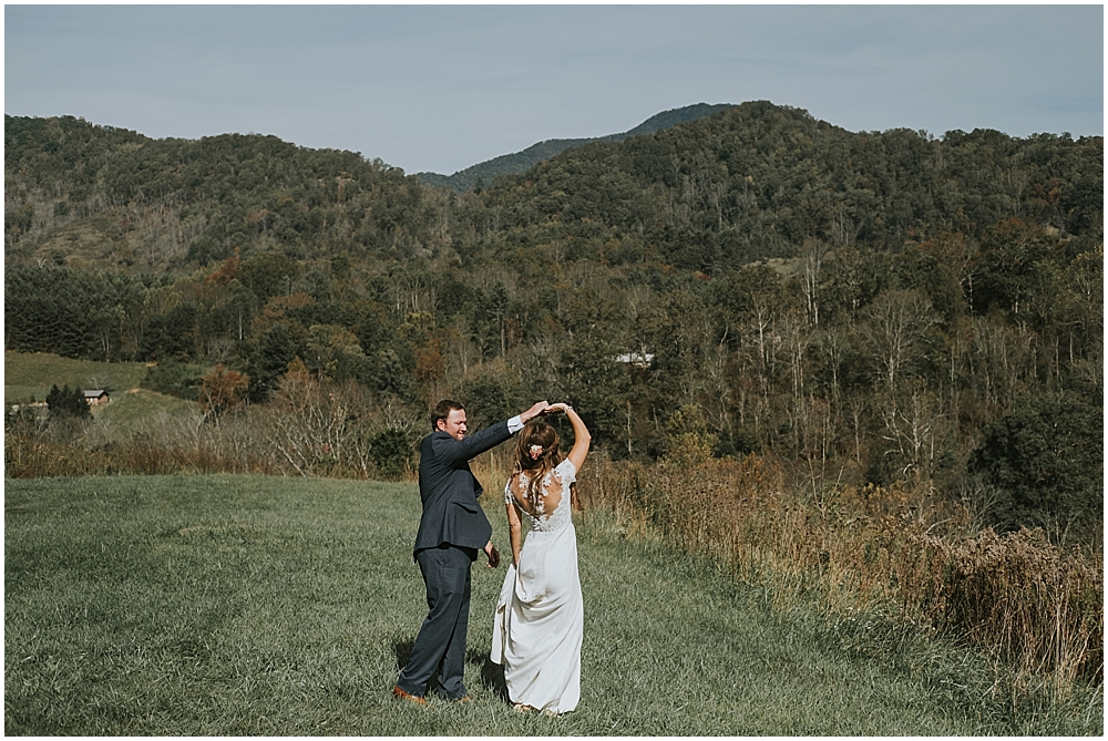 mountain wedding ceremony in asheville NC