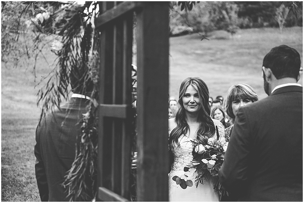 Fines Creek Farm wedding ceremony