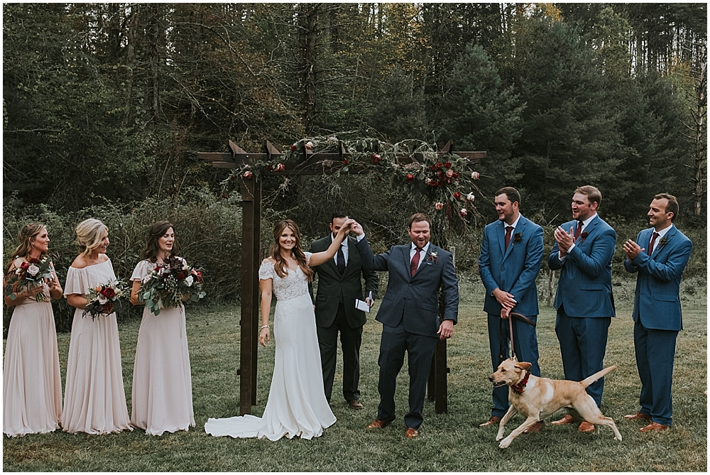 Asheville mountain wedding at Fines Creek Farm