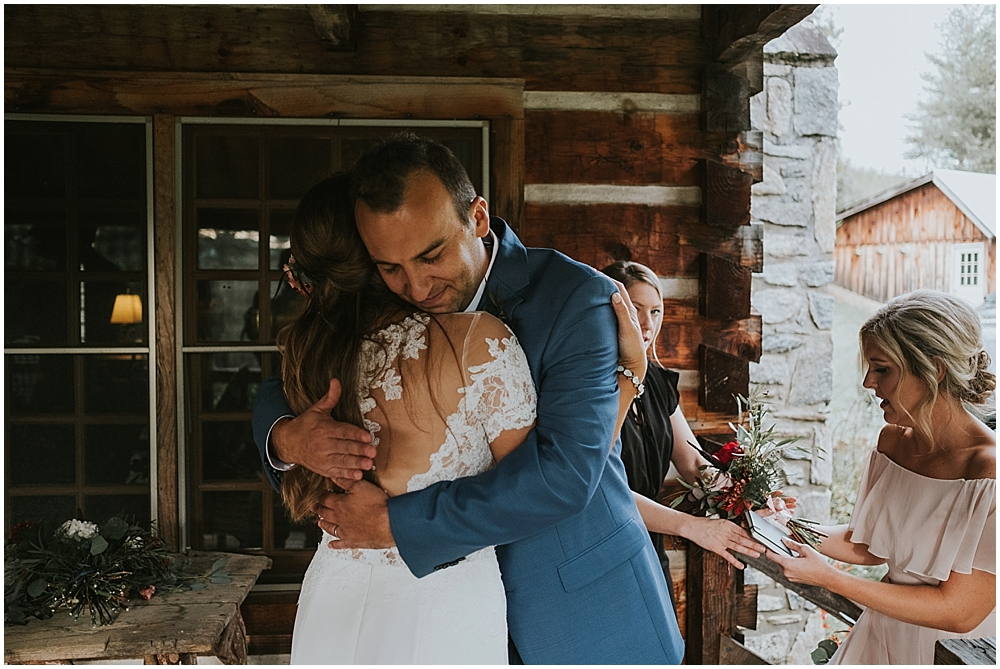 North Carolina mountain cabin wedding