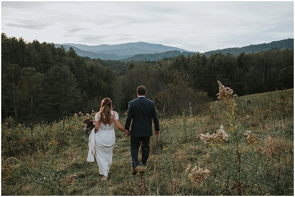 Scenic outdoor mountain wedding venue in Asheville, North Carolina