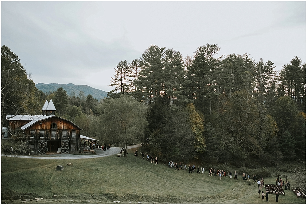 rustic mountain wedding venue in North Carolina