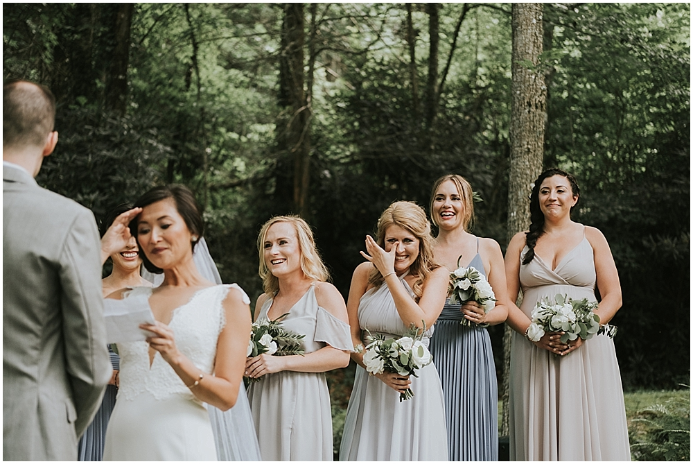 pisgah forest outdoor wedding ceremony