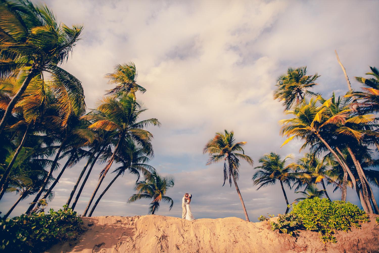 Puerto Rico Wedding Couples Portraits Palm Trees