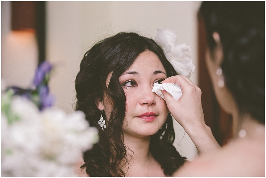 Cathy and Jonathon Bride Crying 9513