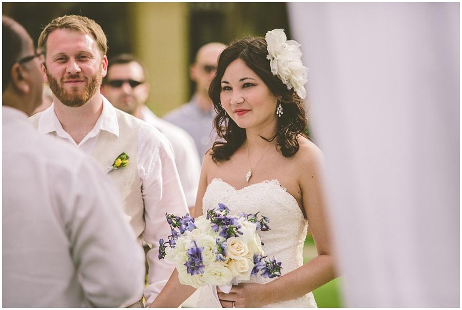 Cathy and Jonathon Beach bride and groom 9516