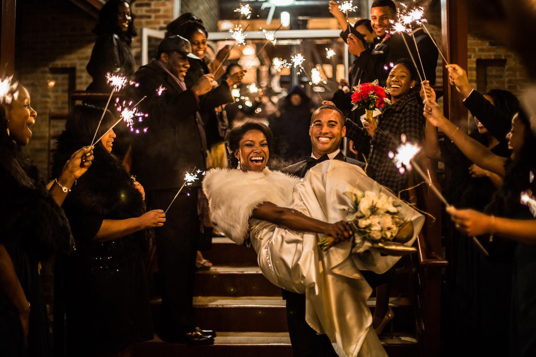 Durham Wedding Sparkler Sendoff