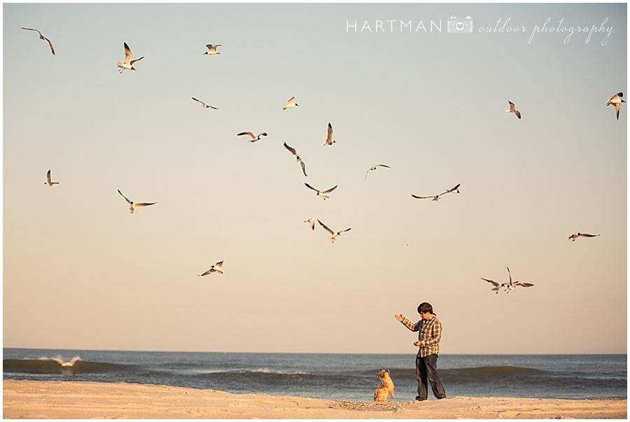 Carolina Beach Sunset with Dog