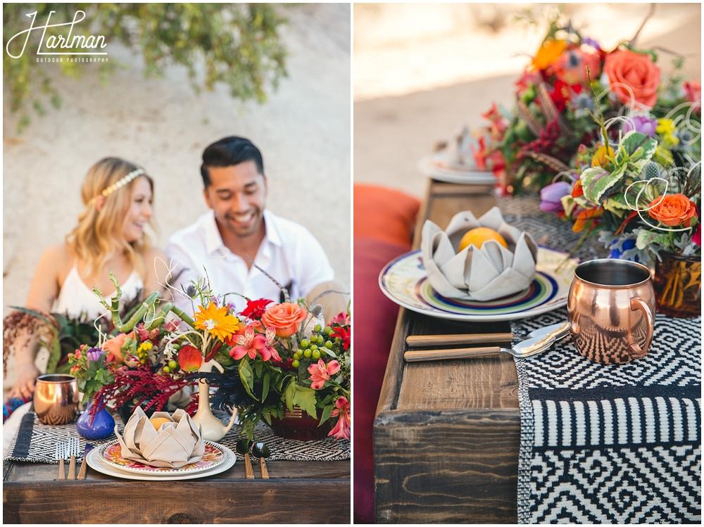 Colorful Bohemian Desert Wedding