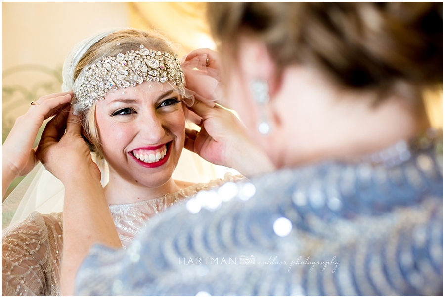 Bride jeweled headband