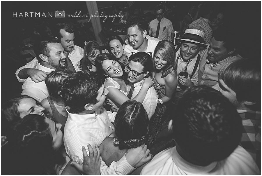 Laura and Oakley wedding reception celebration