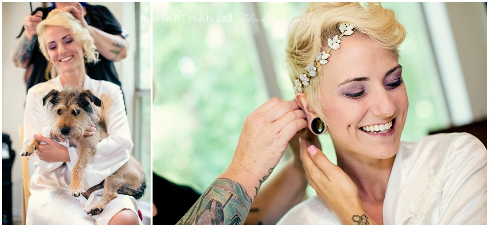 Tattooed Bride Getting Ready