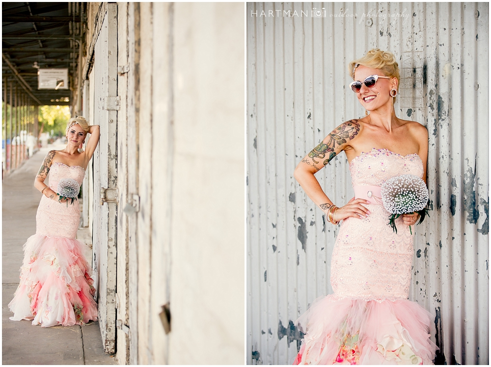 Raleigh Bride Pink Wedding Dress