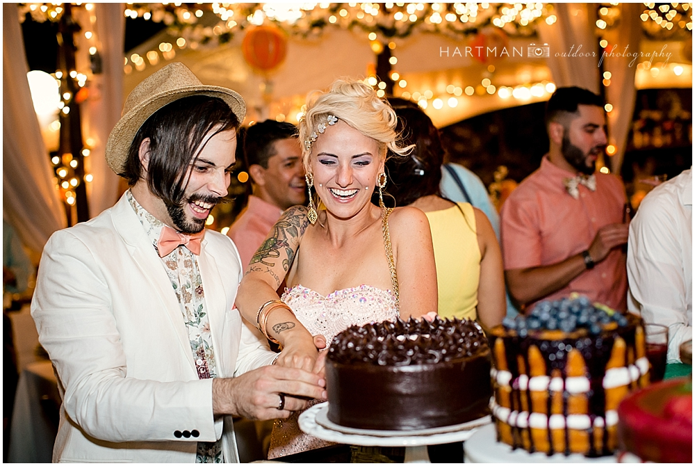 Tyler and McKenna Cutting Cake