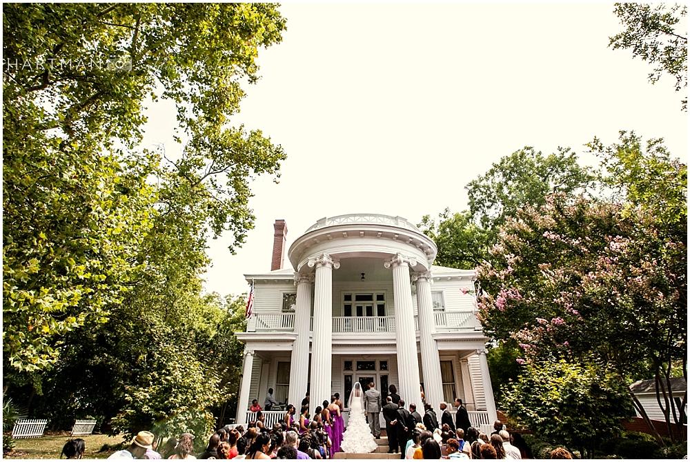 Tucker House Outdoor Ceremony
