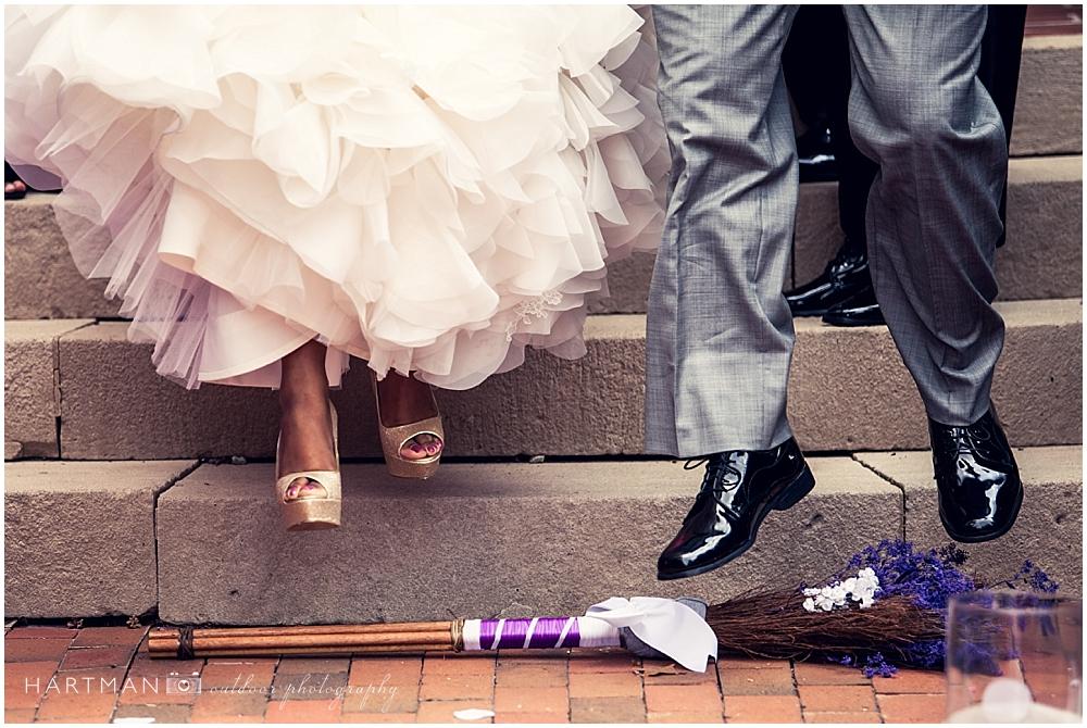 African American Wedding Broom Jump