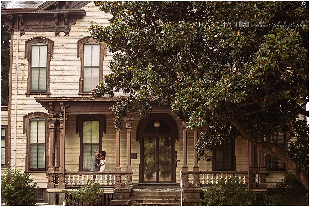 Raleigh Historic District Bride and Groom Portraits
