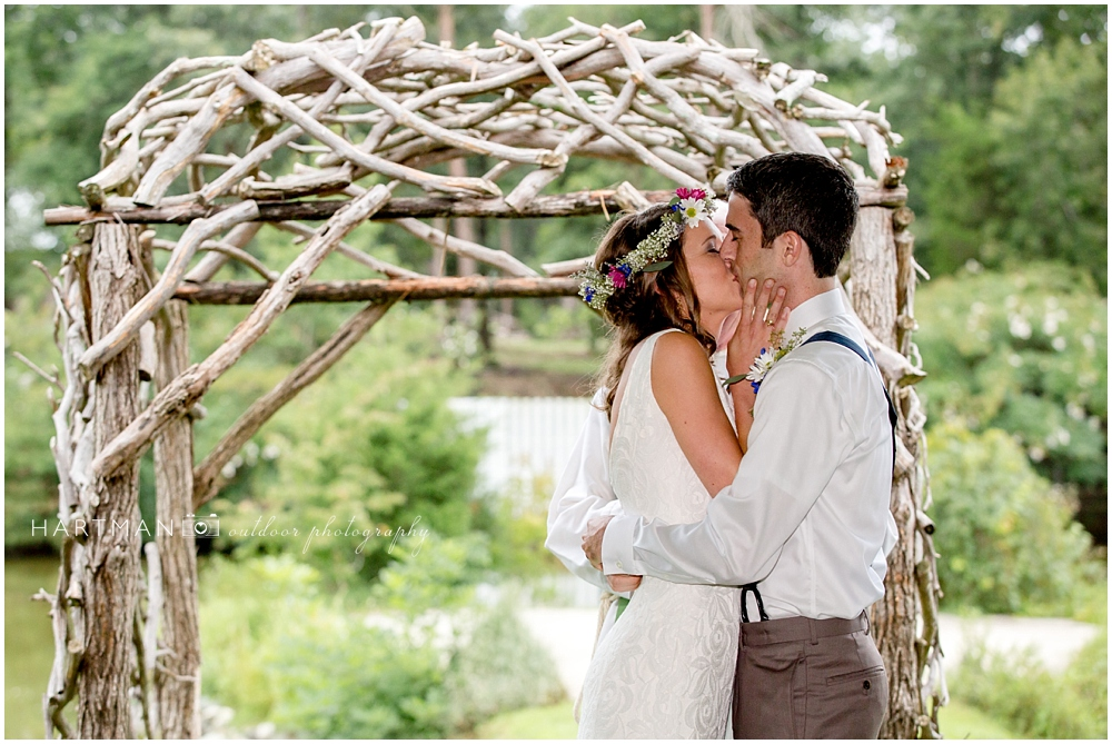 Sarah and Caleb First Kiss