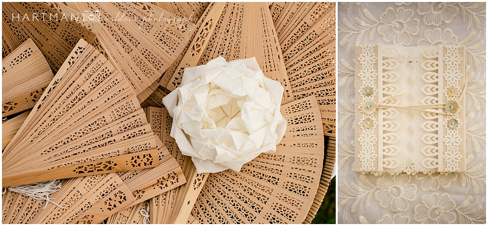 Wedding Fan and Guest Book
