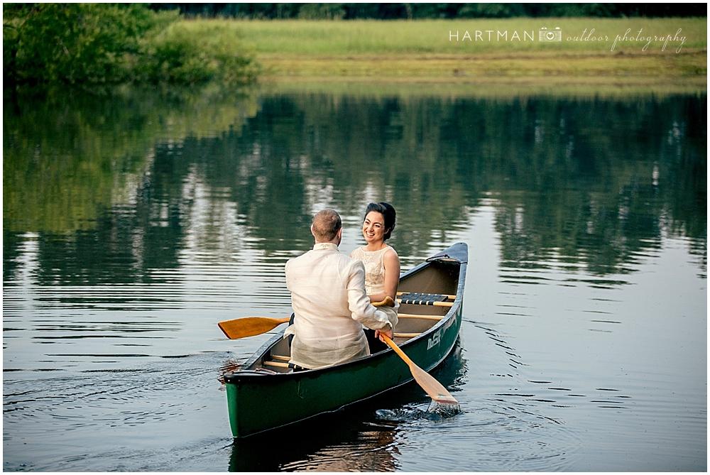 Filipino Bride in Canoe
