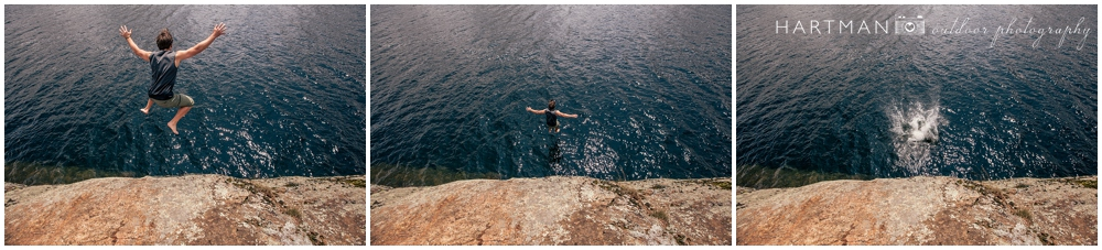 Josh Cliff Jumping into Lake