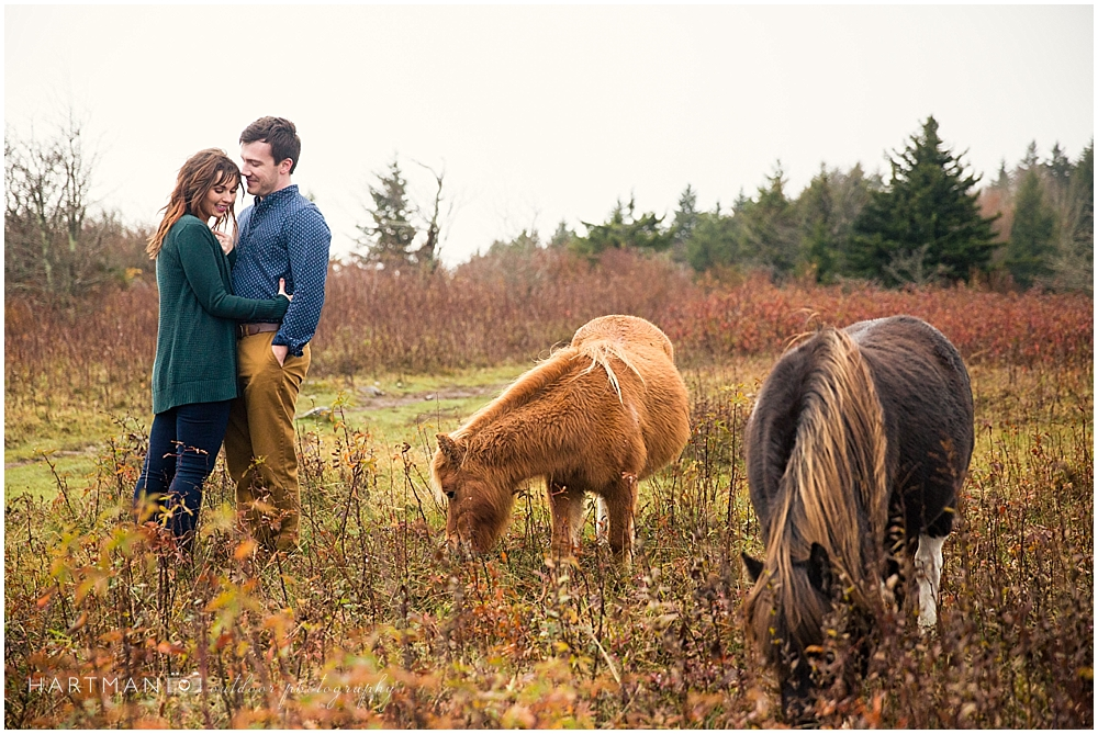 Grayson Highlands Engagement Fall Colors