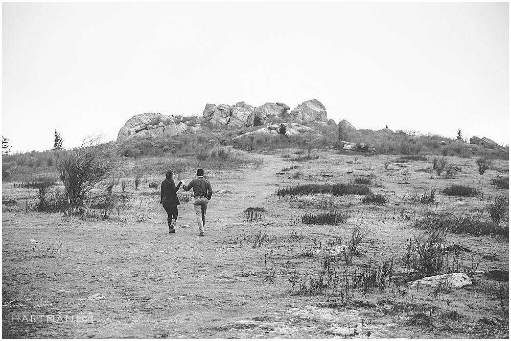 Grayson Highlands Engagement Fall Colors Rocky Cliffs