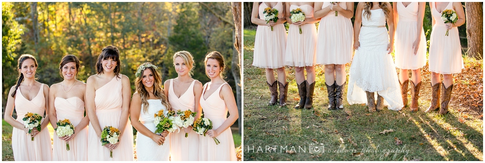 north carolina cowgirl bridesmaids