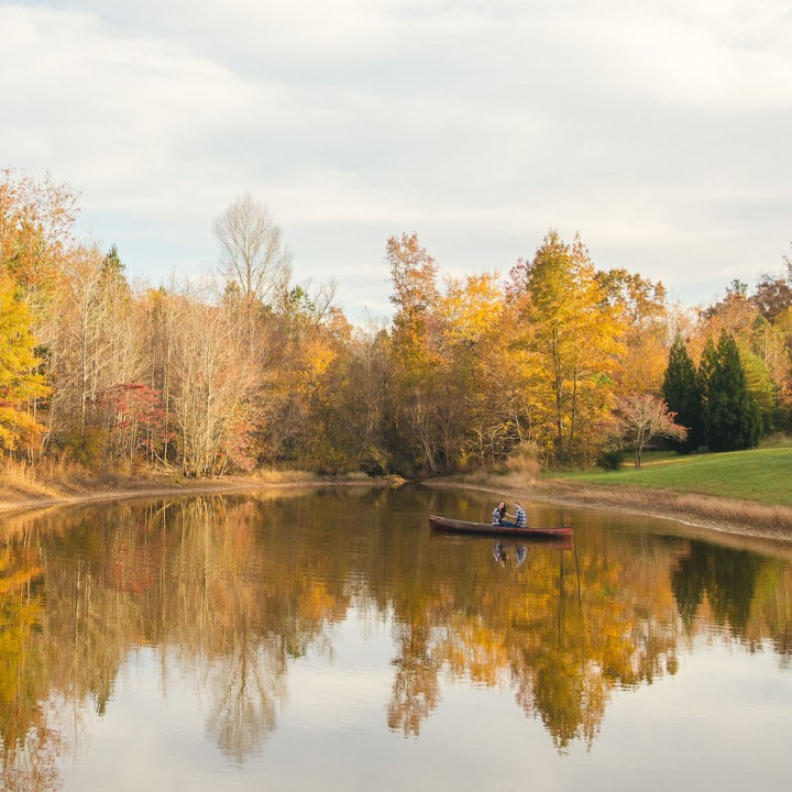 Rebecca + Christian | Adventurous Autumn Pittsboro Engagement Session