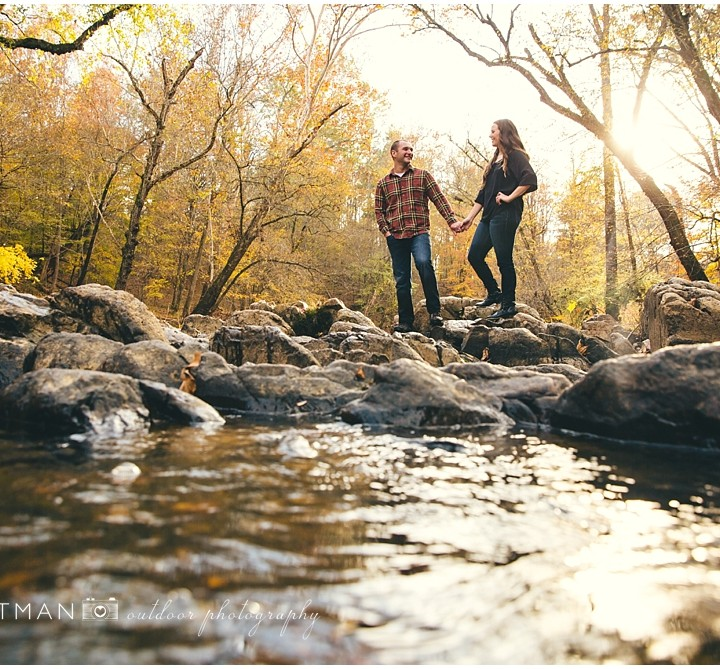 Casey + JD | Eno River Engagement