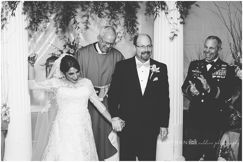 Raleigh Winter Wedding Ceremony 0376