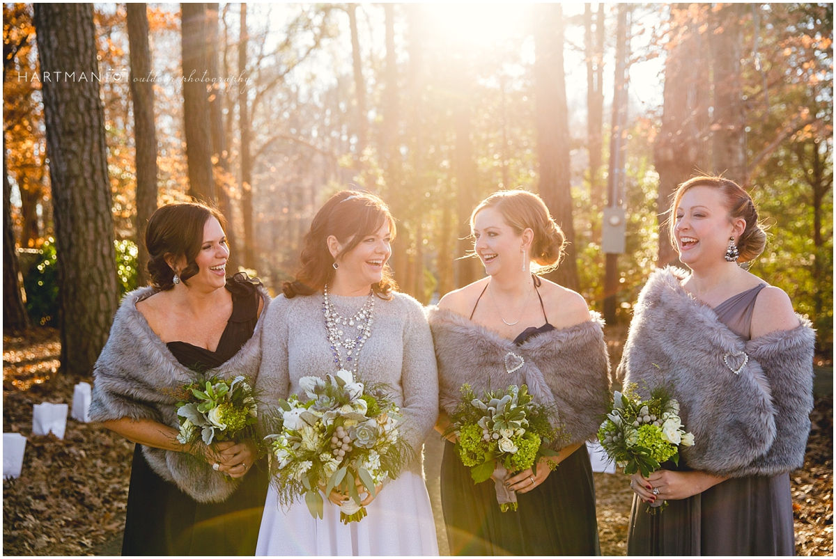 Raleigh Winter Wedding Bridesmaids