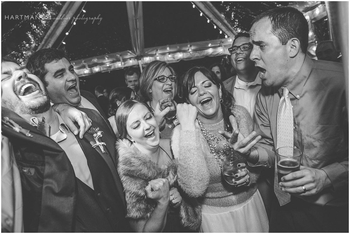 Bride and Groom singing at wedding