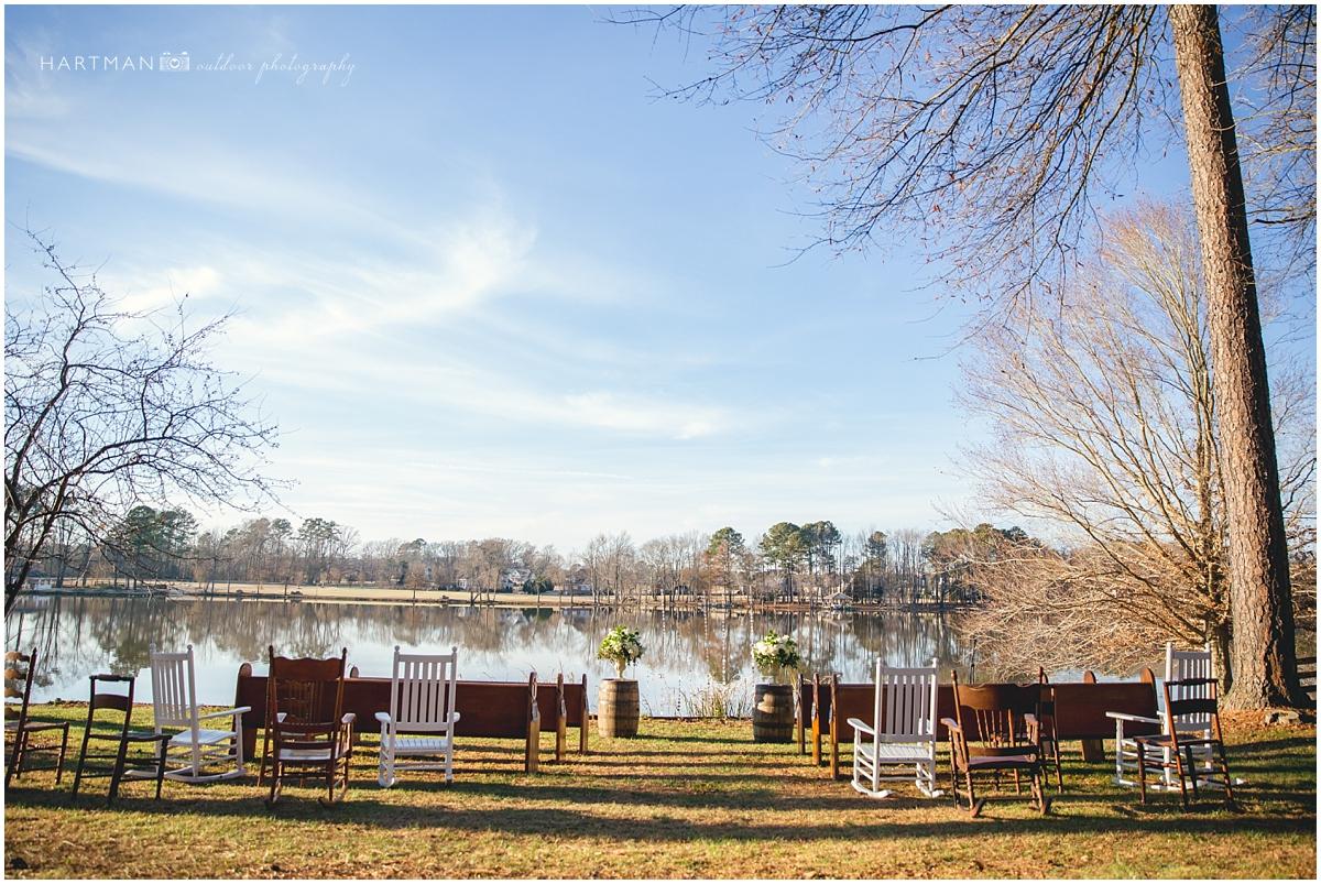 NC River Outdoor Wedding Ceremony