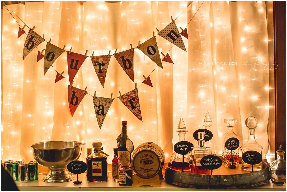 Bourbon Bar Wedding Reception