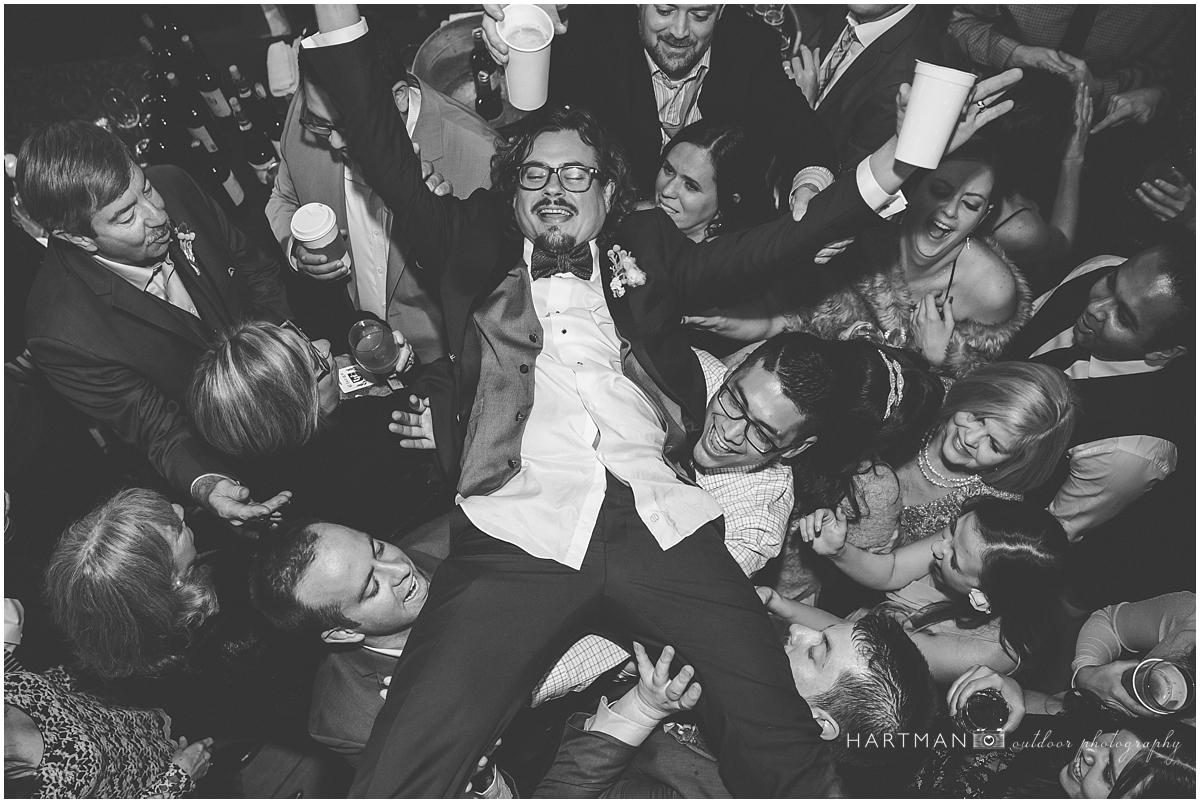 Raleigh Groom Crowdsurfing