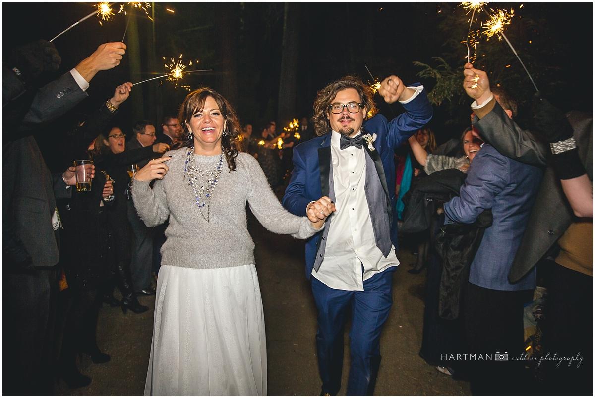 Photojournalist Wedding Photographer Sparkler Sendoff