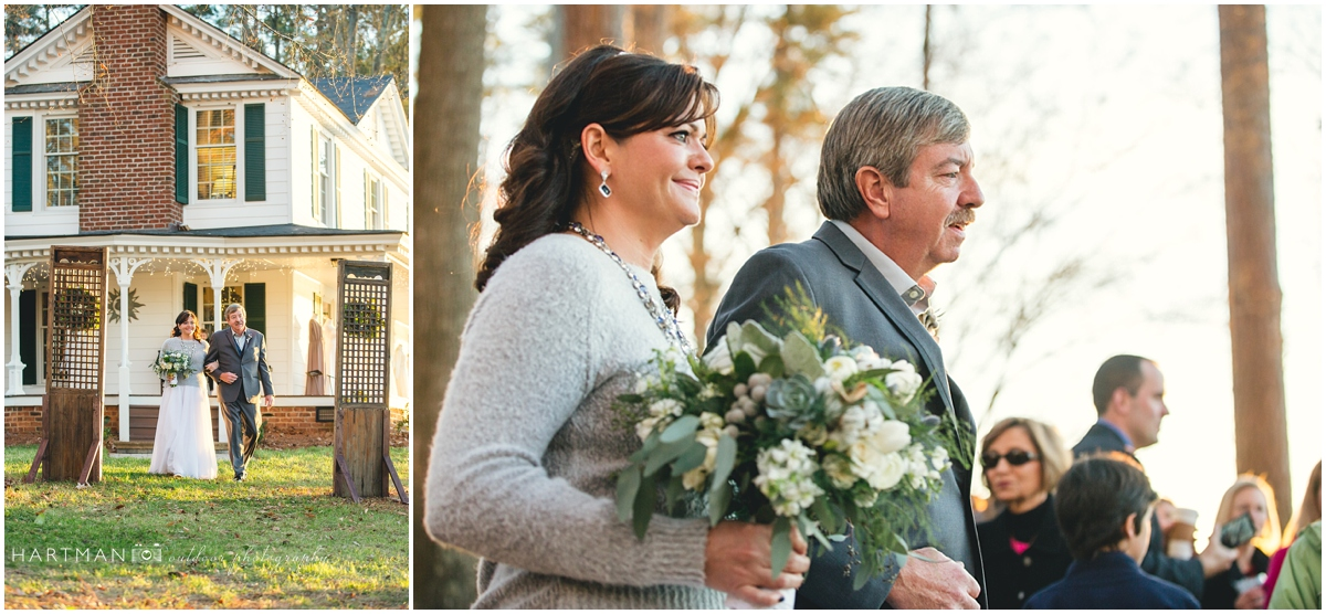 Raleigh NC Vintage Wedding Ceremony