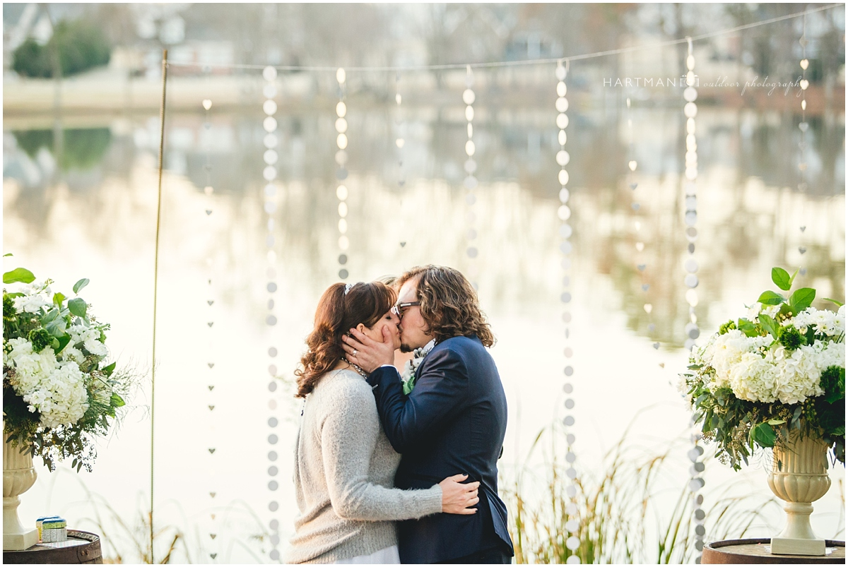 Winter Outdoor Wedding Raleigh photographed