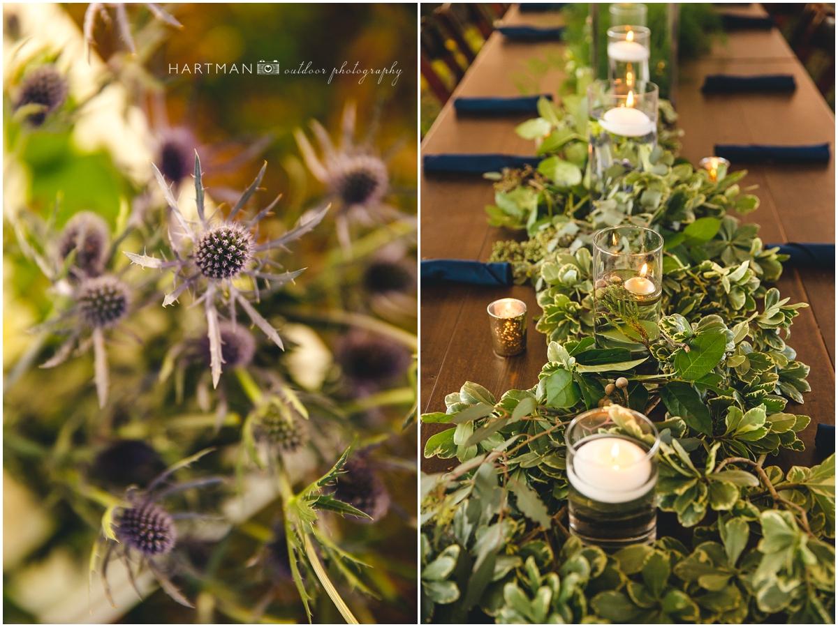 Winter Wedding Reception Thistle