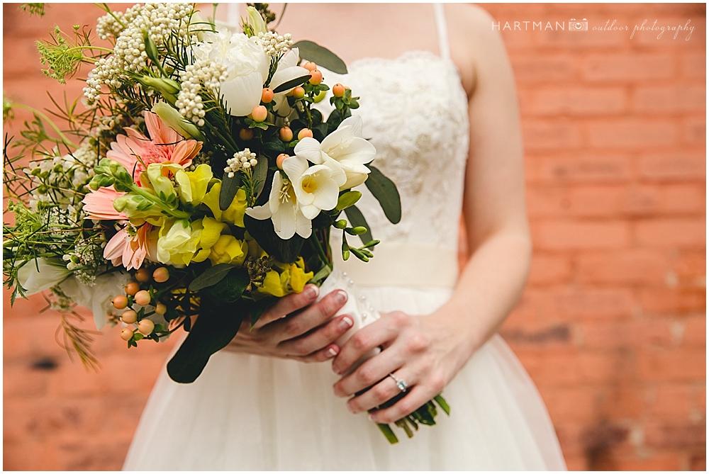 Peach Wedding Bouquet 00733