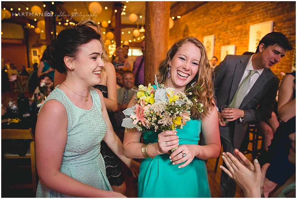 Bouquet Toss Wedding Reception 00760